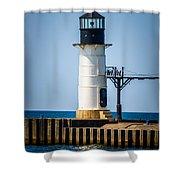 St. Joseph Outer Lighthouse Photo Shower Curtain by Paul Velgos