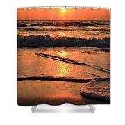 St. Joseph Sunset Swirls Shower Curtain