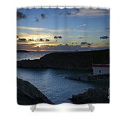 St Justinian Sunset Shower Curtain
