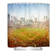 St. Louis Cardinals Busch Stadium Texture 2 Shower Curtain