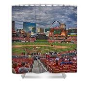 St Louis Cardinals Busch Stadium Dsc06139 Shower Curtain