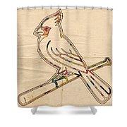 St Louis Cardinals Logo Art Shower Curtain