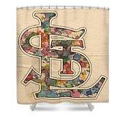 St Louis Cardinals Logo Vintage Shower Curtain