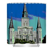 St Louis Cathedral 3 Shower Curtain