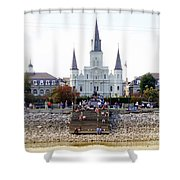St Louis Cathedral Shower Curtain