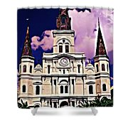 St Louis Cathedral In New Orleans Shower Curtain