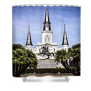 St. Louis Cathedral In New Orleans  Shower Curtain