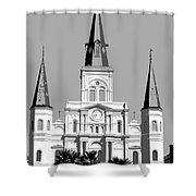 St Louis Cathedral Poster 1 Shower Curtain