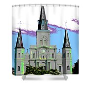 St Louis Cathedral Poster 2 Shower Curtain