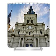 St Louis Cathedral Twilight Shower Curtain