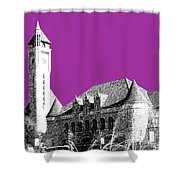 St Louis Skyline Union Station - Plum Shower Curtain