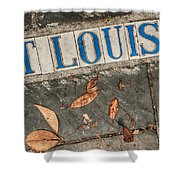 St Louis Street Tiles In New Orleans Shower Curtain