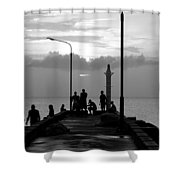 St Lucia Anse La Raye 01 Shower Curtain