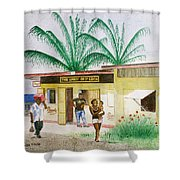 St. Lucia Store Shower Curtain