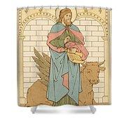 St Luke The Evangelist Shower Curtain by English School