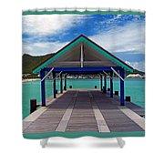 St. Maarten Pier Shower Curtain