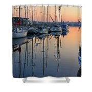St. Malo Sunrise Brittany France Shower Curtain