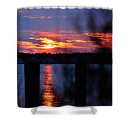 St. Marten River Sunset Shower Curtain
