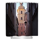 St. Martin's Church Bell Tower In Warsaw Shower Curtain