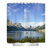 St. Mary Lake And Wild Goose Island Shower Curtain