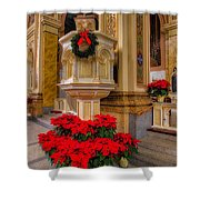 St. Mary Of The Angels Christmas Lectern Shower Curtain