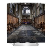 St Mary The Virgin Church - Choir And Altar Shower Curtain