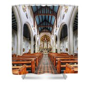 St Mary's Catholic Church - The Nave Shower Curtain