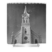 St. Mary's Of Port Washington  B-w Shower Curtain
