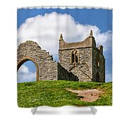 St Michael's Church - Burrow Mump 4 Shower Curtain
