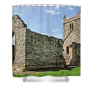 St Michael's Church - Burrow Mump 5 Shower Curtain