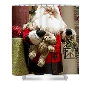 St Nick Teddy Bear Shower Curtain by Jon Berghoff