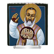 St. Padre Pio Mother Pelican 047 Shower Curtain