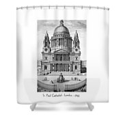 St. Paul Cathedral - London - 1792 Shower Curtain