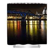 St Pauls And Millenium Bridge Shower Curtain
