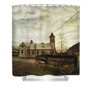 St. Pauls Anglican Church With Wagon  Shower Curtain