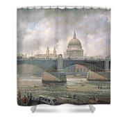 St. Paul's Cathedral From The Southwark Bank Shower Curtain