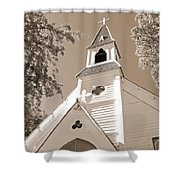 St. Paul's Church Port Townsend In Sepia Shower Curtain
