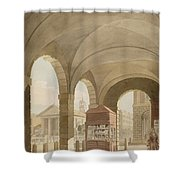 St. Pauls, Covent Garden C.1765-75 Graphite And Wc On Paper Shower Curtain