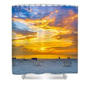 St. Pete Beach Sunset Shower Curtain