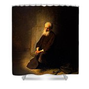 St. Peter In Prison, 1631 Shower Curtain