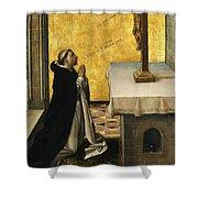 St. Peter Martyr In Prayer Shower Curtain