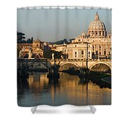 St Peter Morning Glow - Impressions Of Rome Shower Curtain