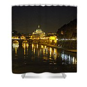 St Peters At Night Shower Curtain