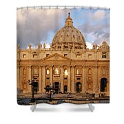 St. Peters Basilica Shower Curtain by Adam Romanowicz
