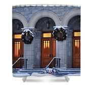 St Peters Christmas Welcome Shower Curtain
