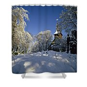 St Peter's Church In The Snow Shower Curtain