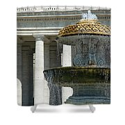 St Peters Square Fountain Shower Curtain