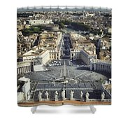 St Peter's Square Shower Curtain by Joan Carroll