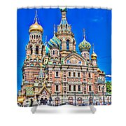 St Petersburg Church Shower Curtain