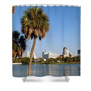 St Petersburg Florida From Mirror Lake Park Shower Curtain